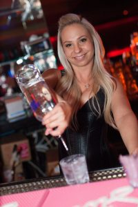 A gorgeous waitress will present your bottle service and help get you started.